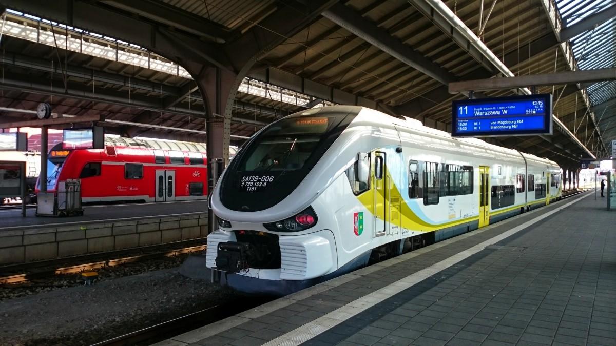 Spalinowy zespół trakcyjny SA139 na stacji Frankfurt Oder [1200x675]