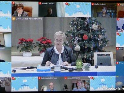 XXVI sesja Sejmiku Województwa Lubuskiego 21 grudnia 2020 r.