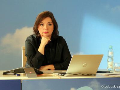Joanna Malon, dyr Departamentu Innowacji i Przedsiębiorczości podczas inauguracji Lubuskiego Forum Innowacji