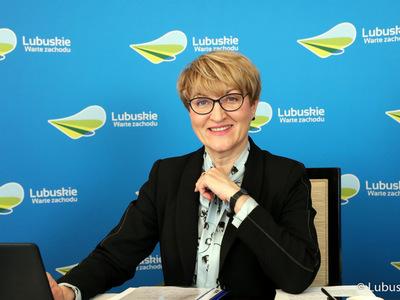 Marszałek Elżbieta Anna Polak podczas spotkania z lubuskimi parlamentarzystami