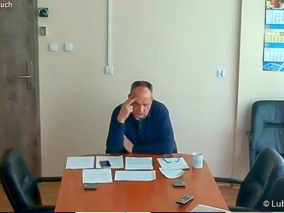 Konferencja prasowa nt. rozliczenia szpitali z NFZ oraz stanu epidemicznego w lubuskich lecznicach. Na zdjęciu prezes Wielospecjalistycznego Szpitala Wojewódzkiego w Gorzowie Wlkp., Jerzy Ostrouch.