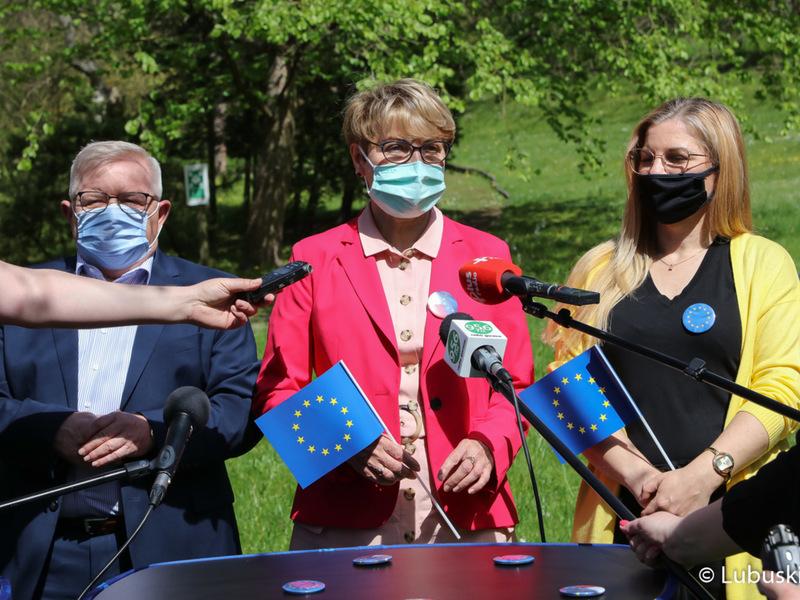 Śladami Unii Europejskiej - konferencja prasowa w Muzeum im. J. Dekerta w Gorzowie Wlkp.