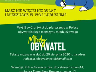 Plakat promujący nabór