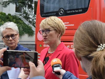 Zdjęcie uczestników konferencji prasowej.