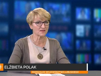 Marszałek Elżbieta Anna Polak w Radiu Index