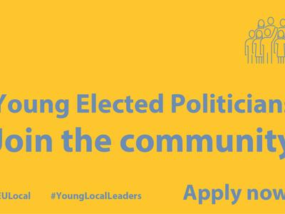 Plakat programu Young Elected Politicians