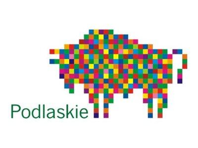 Logo województwa podlaskiego - kolorowy żubr.