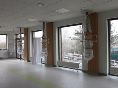 Budowa Pododdziału Dziennej Chemioterapii w gorzowskim szpitalu rozpoczęła się w połowie 2020 r. i dobiega już końca. Fot. Wielospecjalistyczny Szpital Wojewódzki w Gorzowie