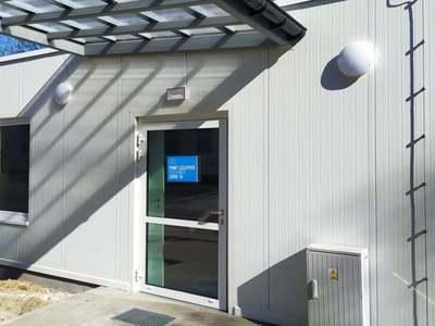 Pretriaż będzie konstrukcją odporną na warunku atmosferyczne. Wnętrze będzie ogrzewane i klimatyzowane. Fot. Szpital Uniwersytecki w Zielonej Górze