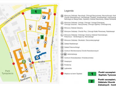 Plan Szpitala Uniwersyteckiego w Zielonej Górze