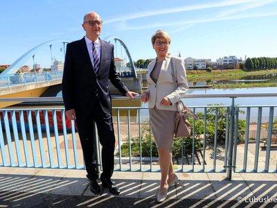 Spotkanie przy moście w Słubicach.