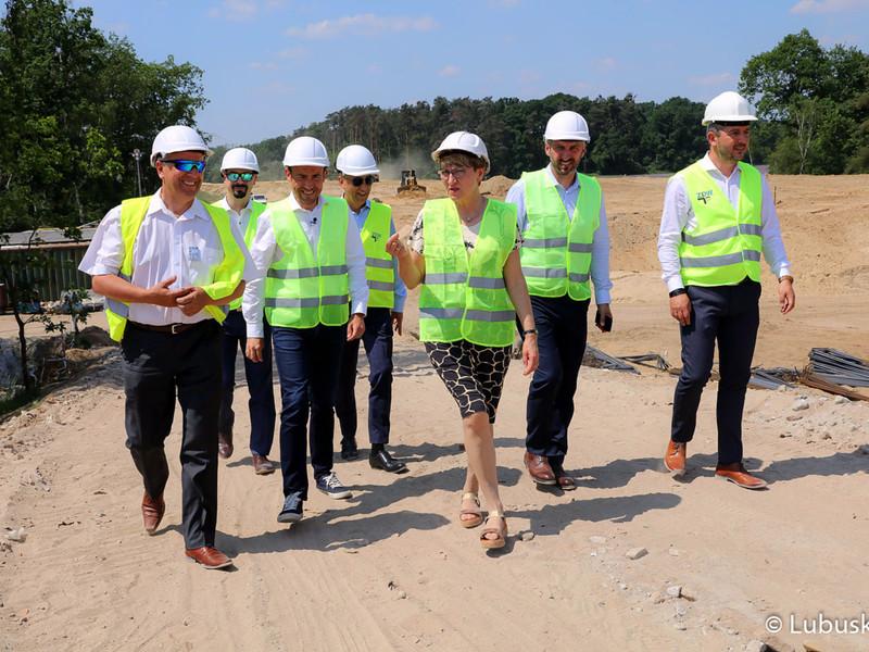 Wizyta na budowie mostu w Milsku